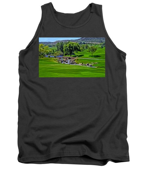Tank Top featuring the painting Del Mar Country Club by Michael Pickett
