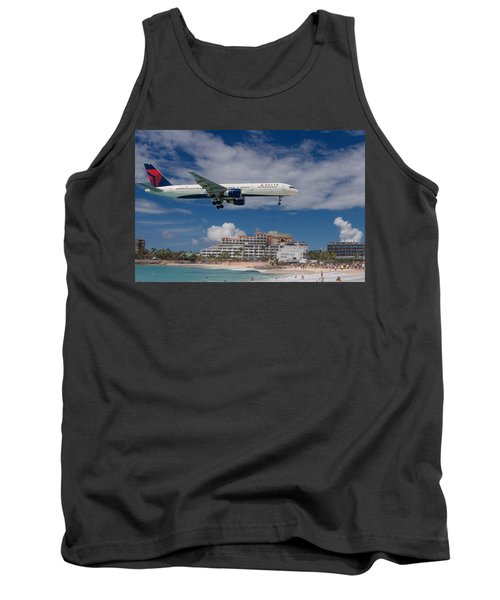 Delta Air Lines Landing At St. Maarten Tank Top