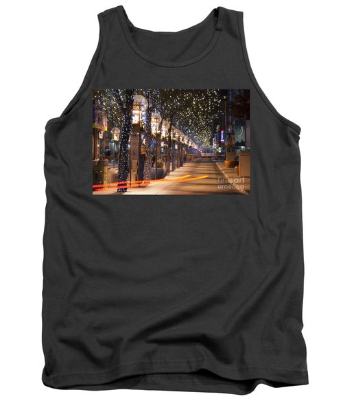 Denver's 16th Street Mall At Christmas Tank Top
