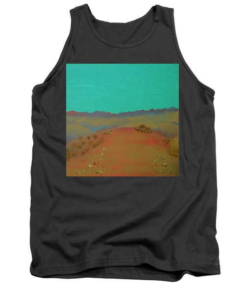 Tank Top featuring the painting Desert Overlook by Keith Thue