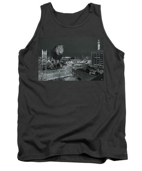 Detroit Lions Tank Top by Nicholas  Grunas