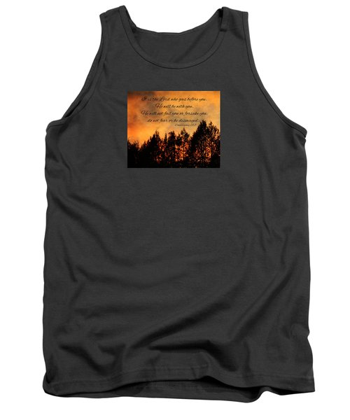 Deuteronomy The Lord Goes Before You Tank Top