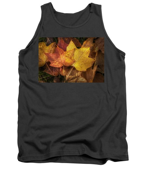 Dew On Autumn Leaves Tank Top