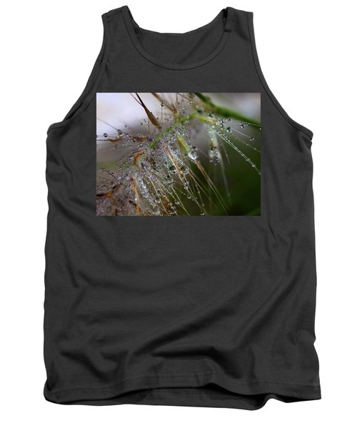 Tank Top featuring the photograph Dew On Fountain Grass by Joe Schofield