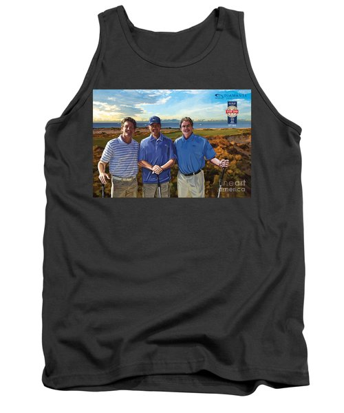 Tank Top featuring the painting Diamante Golf by Tim Gilliland