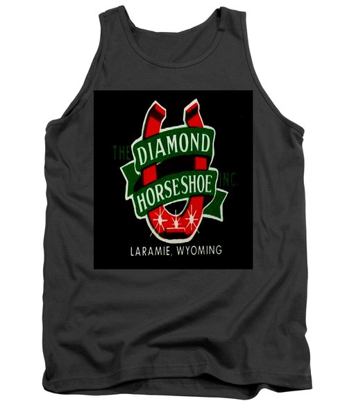 Tank Top featuring the digital art Diamond Horseshoe by Cathy Anderson