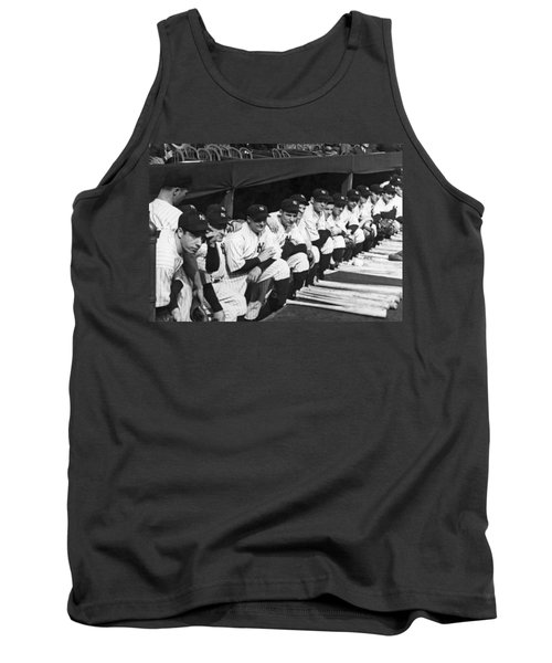 Dimaggio In Yankee Dugout Tank Top by Underwood Archives