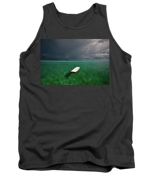 Dinghy In Clear Turquoise Water, Great Tank Top