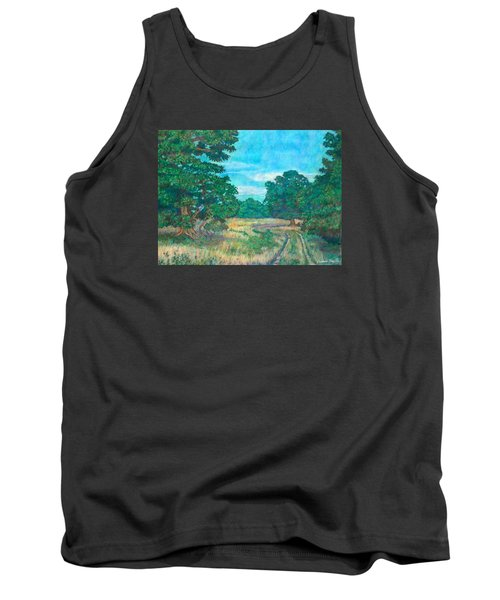 Tank Top featuring the painting Dirt Road Near Rock Castle Gorge by Kendall Kessler