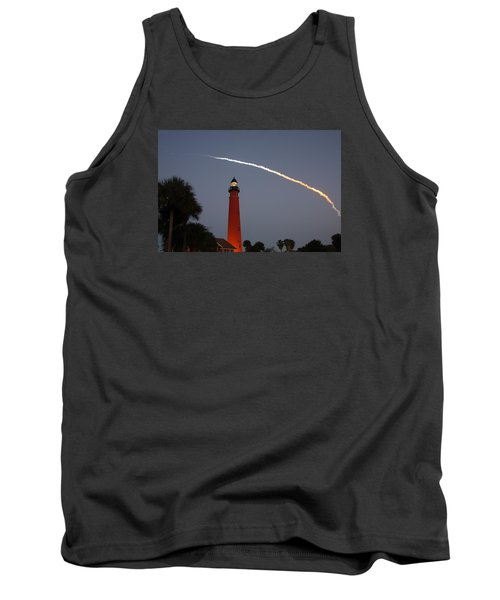 Discovery Booster Separation Over Ponce Inlet Lighthouse Tank Top