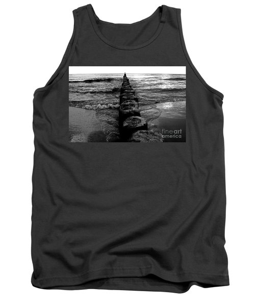 Distant Seagull Baltic Beach Tank Top by Andy Prendy