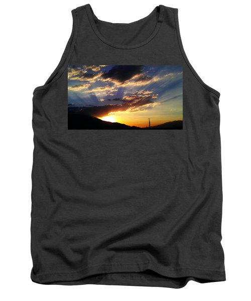 Tank Top featuring the photograph Divine Sunset by Chris Tarpening