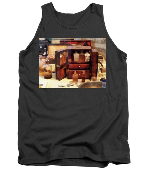 Doctor - Case With Medicine Bottles Tank Top by Susan Savad