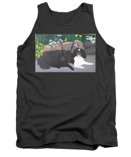 Dogs Daisy And Buttons Tank Top