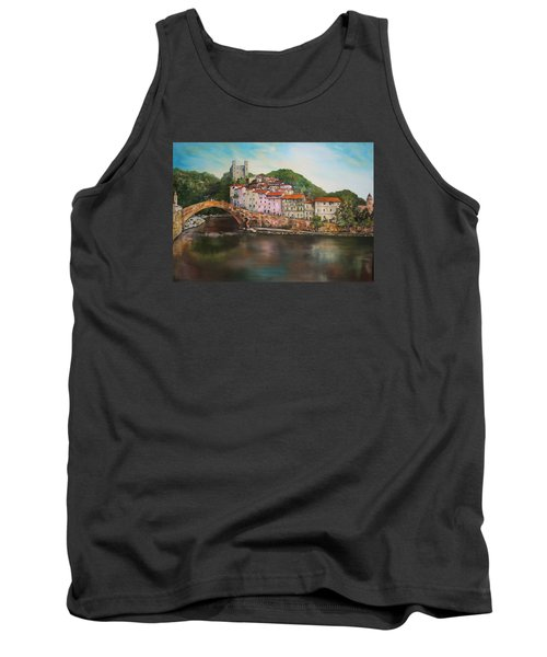 Tank Top featuring the painting Dolceacqua Italy by Jean Walker