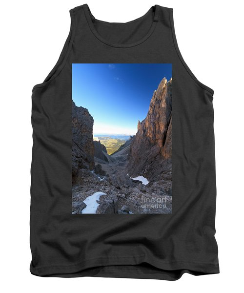 Tank Top featuring the photograph Dolomites At Morning by Antonio Scarpi