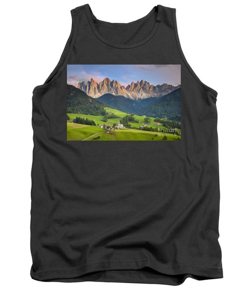 Dolomites From Val Di Funes Tank Top by Brian Jannsen