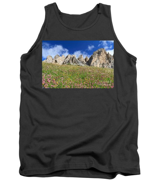 Tank Top featuring the photograph Dolomiti - Flowered Meadow  by Antonio Scarpi