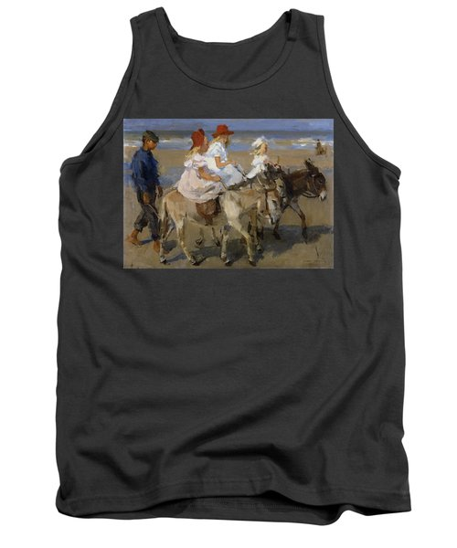 Donkey Rides Along The Beach Tank Top