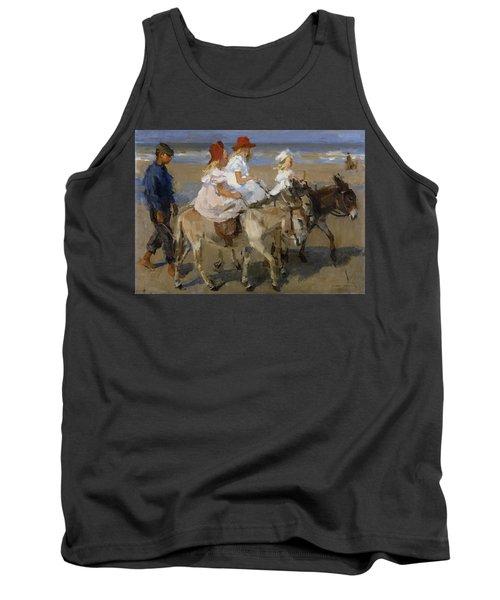 Donkey Rides Along The Beach Tank Top