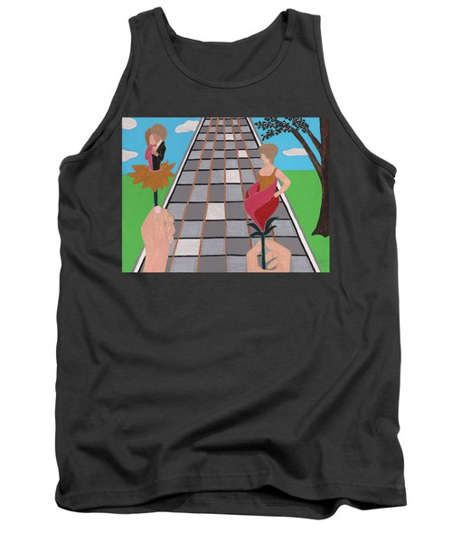 Don't Get Strung Out Tank Top by Barbara St Jean