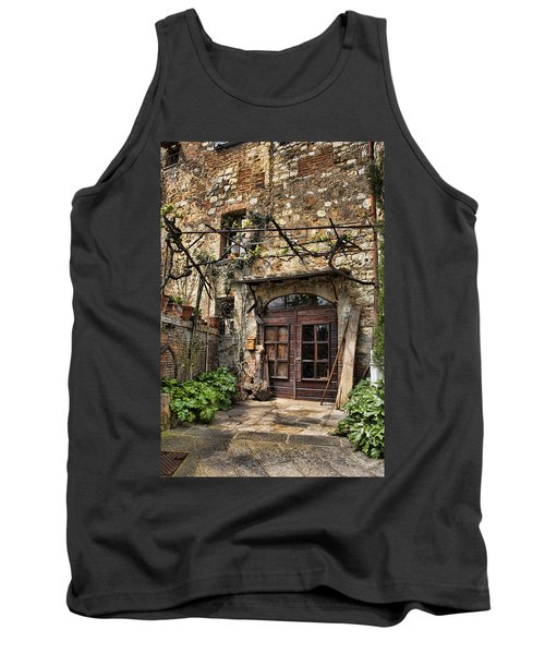 Tank Top featuring the photograph Door Montepulciano Italy by Hugh Smith