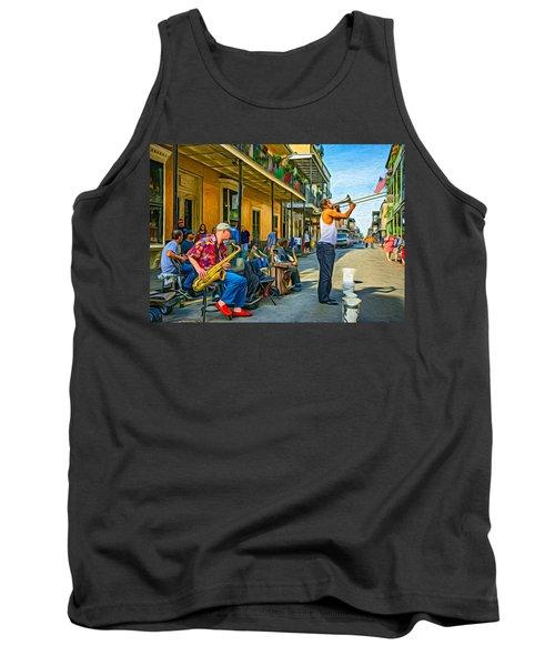 Doreen's Jazz New Orleans - Paint Tank Top by Steve Harrington