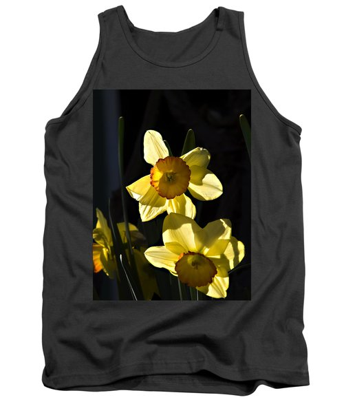 Tank Top featuring the photograph Dos Daffs by Joe Schofield