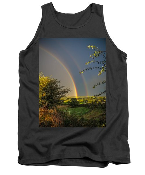 Double Rainbow Over County Clare Tank Top
