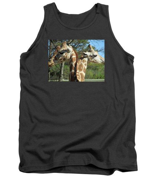 Giraffes With A Twist Tank Top