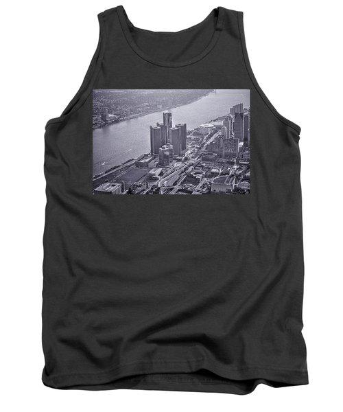 Downtown Detroit Tank Top by Nicholas  Grunas