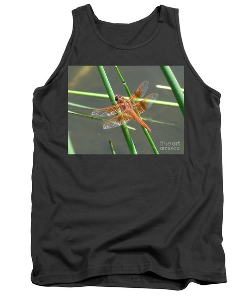 Tank Top featuring the photograph Dragonfly Orange by Kerri Mortenson