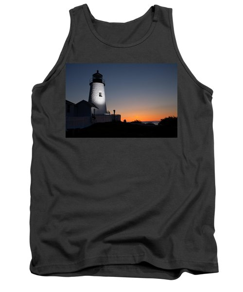Dramatic Lighthouse Sunrise Tank Top
