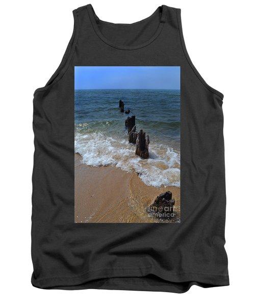Driftwood And Sea Foam Beach Tank Top