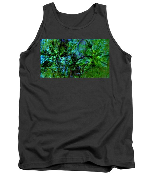 Tank Top featuring the mixed media Drowning by Ally  White
