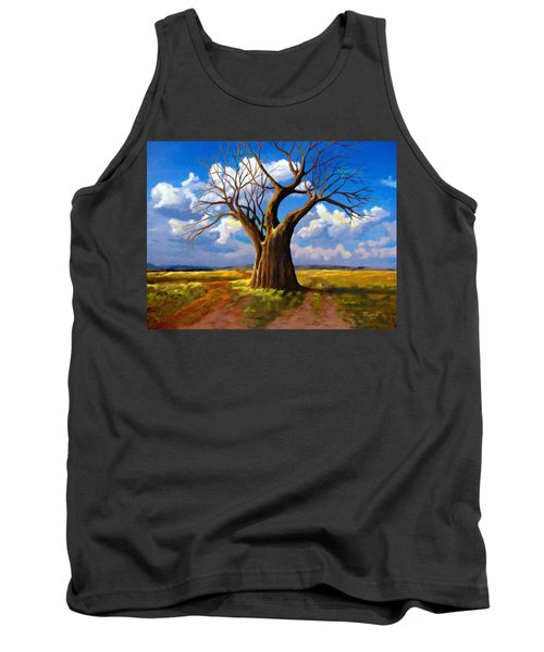 Dry Tree And Two Roads Tank Top