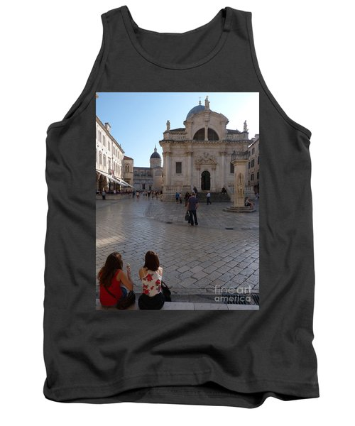 Tank Top featuring the photograph Dubrovnik - Time To Relax by Phil Banks