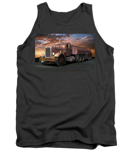 Duel Truck With Trailer Tank Top by Stuart Swartz