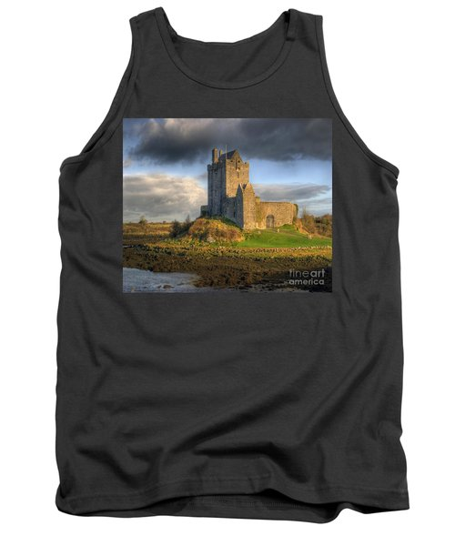 Dunguaire Castle With Dramatic Sky Kinvara Galway Ireland Tank Top