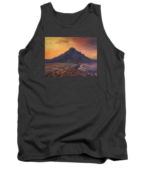 Tank Top featuring the painting Dusk Over St Michaels Mount Cornwall by Jean Walker