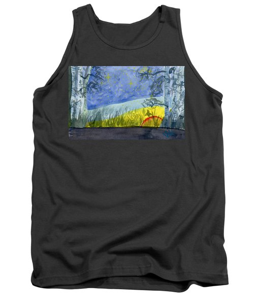 Dusky Scene Of Stars And Beans Tank Top