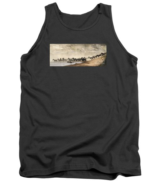 Tank Top featuring the photograph Dusty Crossing by Liz Leyden