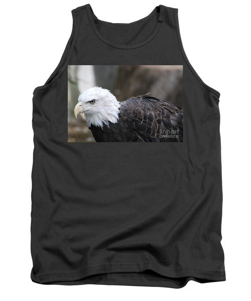 Eagle With Ruffled Feathers Tank Top by DejaVu Designs