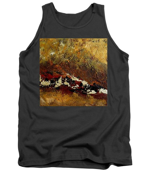 Earth Abstract Four Tank Top by Lance Headlee