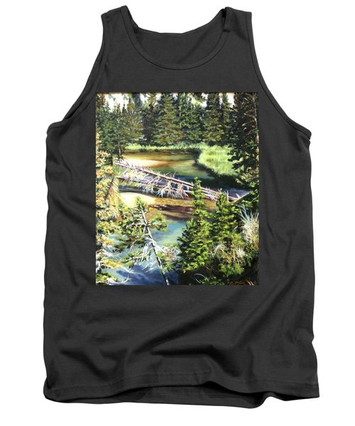 East Rosebud Inlet Stream Tank Top by Patti Gordon