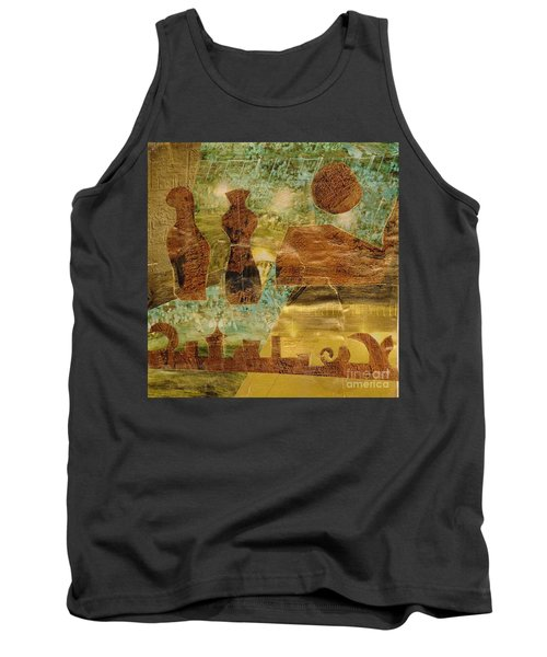 Eastern Motif Tank Top by Patricia Cleasby