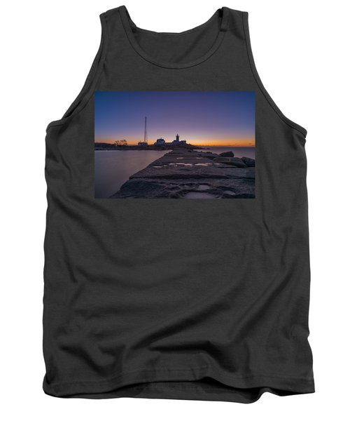 Eastern Point Lighthouse Just Before Sunrise Gloucester Ma Tank Top