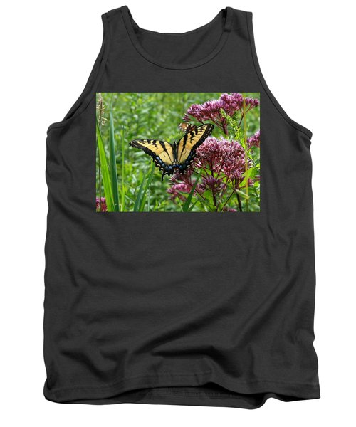 Eastern Tiger Swallowtail On Joe Pye Weed Tank Top