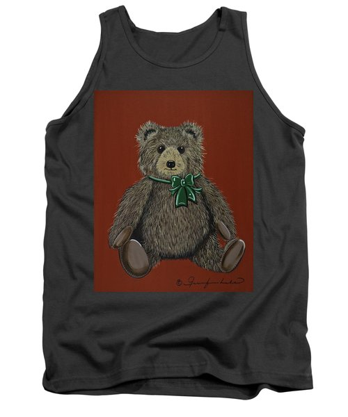 Tank Top featuring the painting Easton's Teddy by Jennifer Lake