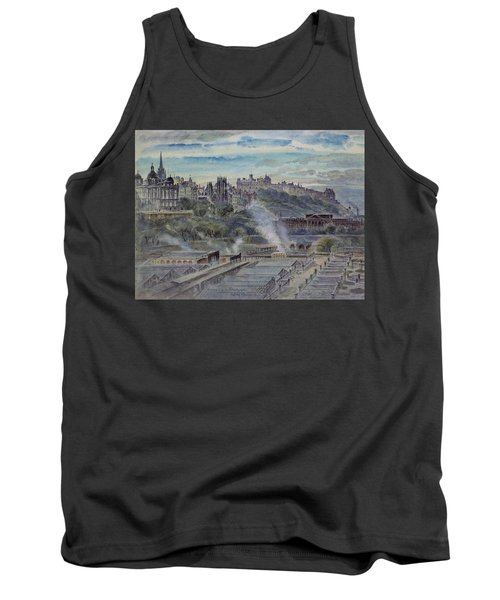 Edinburgh From Near St. Anthonys Chapel On The North-west Shoulder Of Arthurs Seat, 19th Century Tank Top